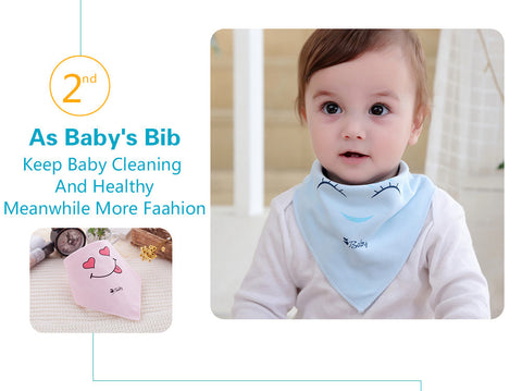 100% Natural Cotton Buttoned Bib