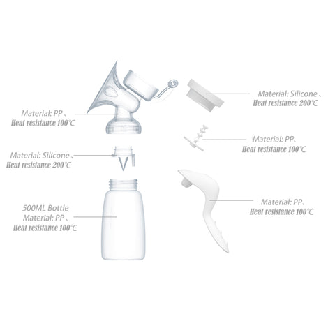 BPA FREE Manual Breast Pump - 150ml