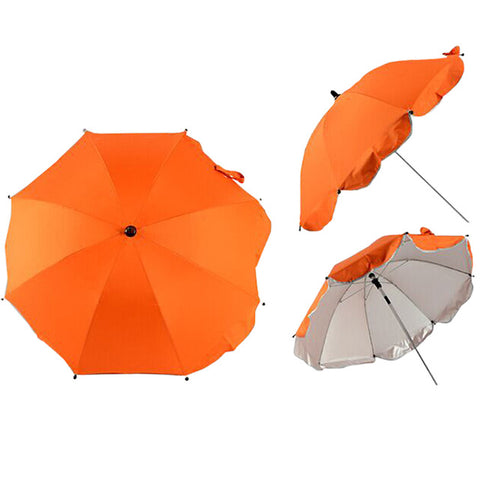 Stroller Sun Umbrella 360 Degrees Attachment