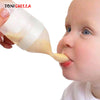 Silicone Baby Feeding Bottle With Spoon