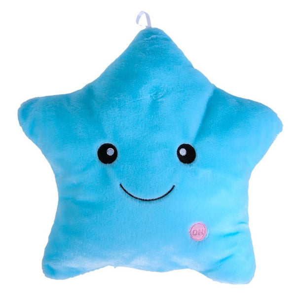 Plush LED Light Star Pillow