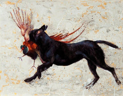 Blind Retrieve Fine Art Print By Catherine Ingleby-Equine Canine Art. Equine Canine Art is an online sales platform for horse, dog art