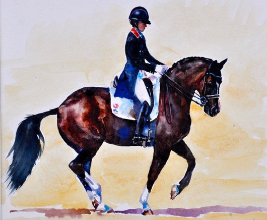 Charlotte Dujardin and Valegro By Claire Verity-Equine Canine Art.... Equine Canine Art is an online sales platform for horse art and dog art.