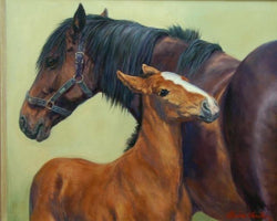 Close by Her Side By Claire Verity-Equine Canine Art.Fine Art Painting Equine Canine Art is an online sales platform for horse art and dog art.
