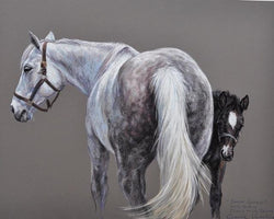 Curiosity and Protection By Claire Verity-Equine Canine Art/Fine Art... Equine Canine Art is an online sales platform for horse art and dog art.