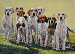 Anticipation-By Claire Verity-Canine Art..Fine Art painting/Hounds....