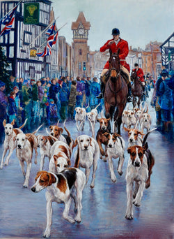 Boxing Day Meet-Giclee Print By Claire Verity/Equine Canine Art/Hounds Equine Canine Art is an online sales platform for horse, dog art