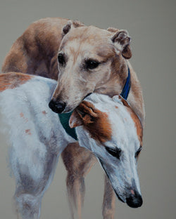 Friendship Giclee Print By Claire Verity-Equine Canine Art/Greyhounds. Equine Canine Art is an online sales platform for horse art and dog art.