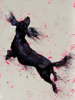 In The Pink..Catherine Ingleby/Equine Canine Art/Cocker Spaniel dog.. Equine Canine Art is an online sales platform for horse art and dog art.