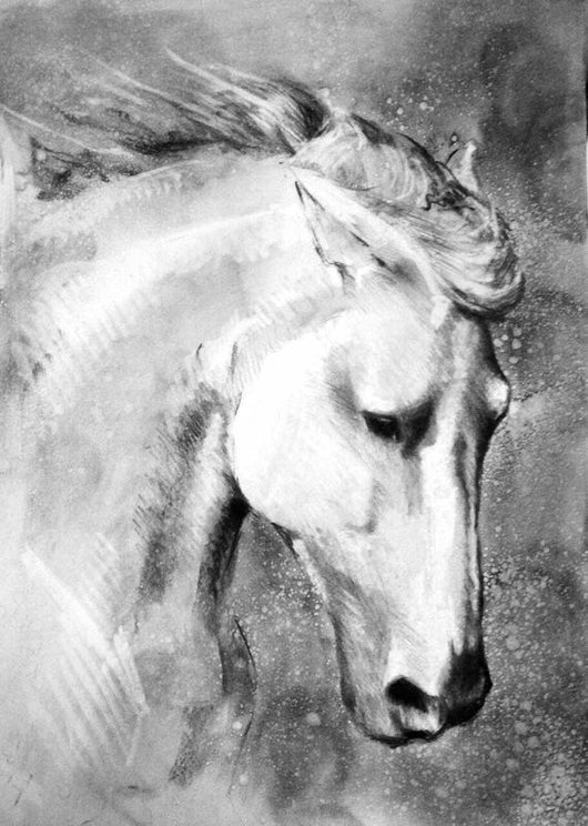 Hermosa Original Fine Art Sketch By Catherine Ingleby/Equine/Canine...  Equine Canine Art is an online sales platform for horse art and dog art.