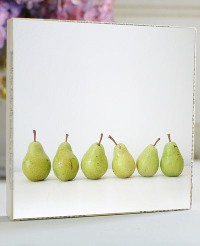 Pears, all in a row