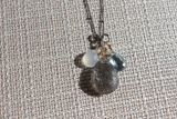 Gemstone Teardrop Cluster Necklace