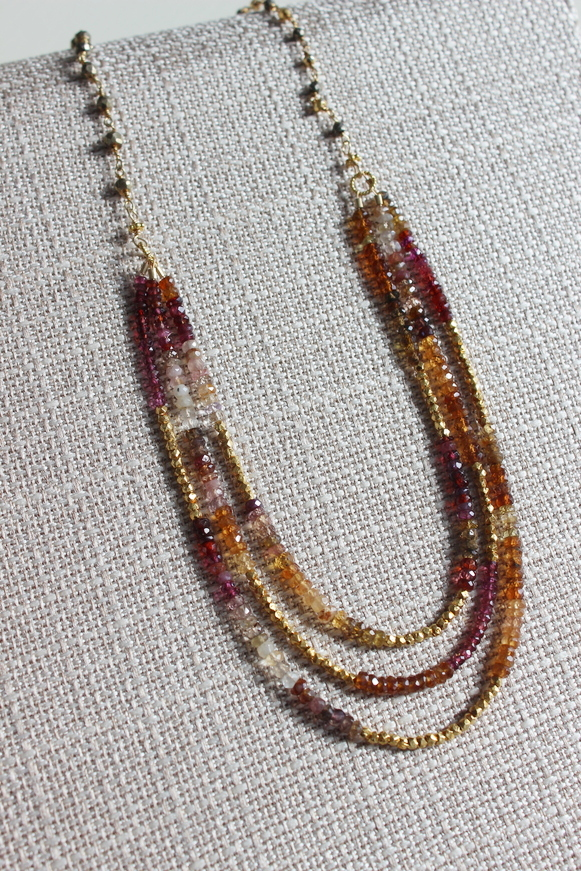 Garnet and Pyrite Necklace