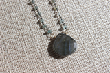 Labradorite and Moss Aqua Necklace