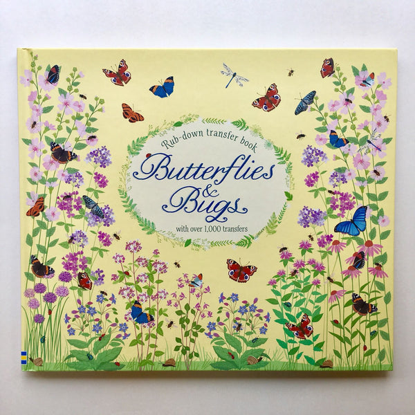 Butterflies and Bugs Rub-down Transfer Book - mamaishop