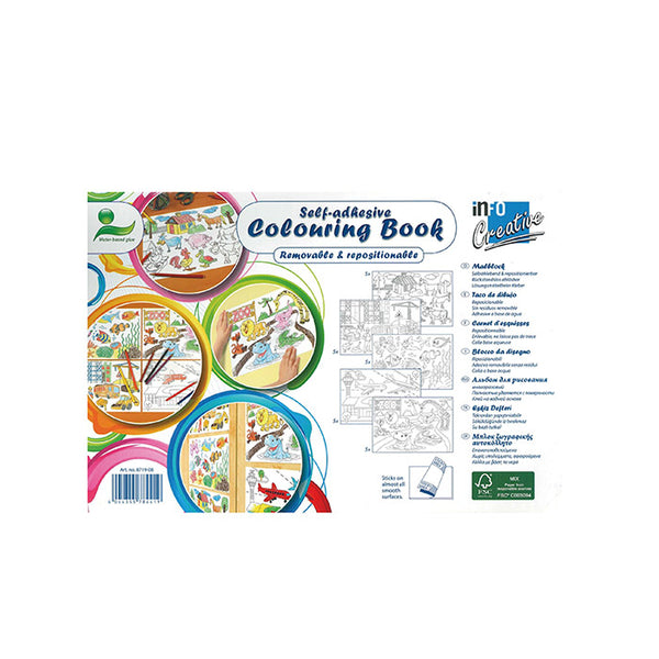 Info self-adhesive colouring book - mamaishop