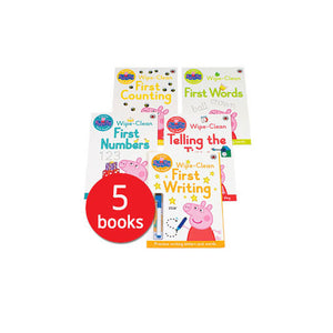 Peppa pig wipe and clean 5 books