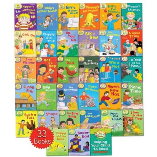 Read with Biff, Chip and Kipper Collection: Levels 1-3 - 33 Books - mamaishop