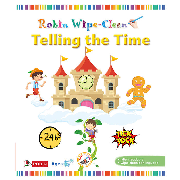 Wipe Clean 6: Telling the Time - mamaishop