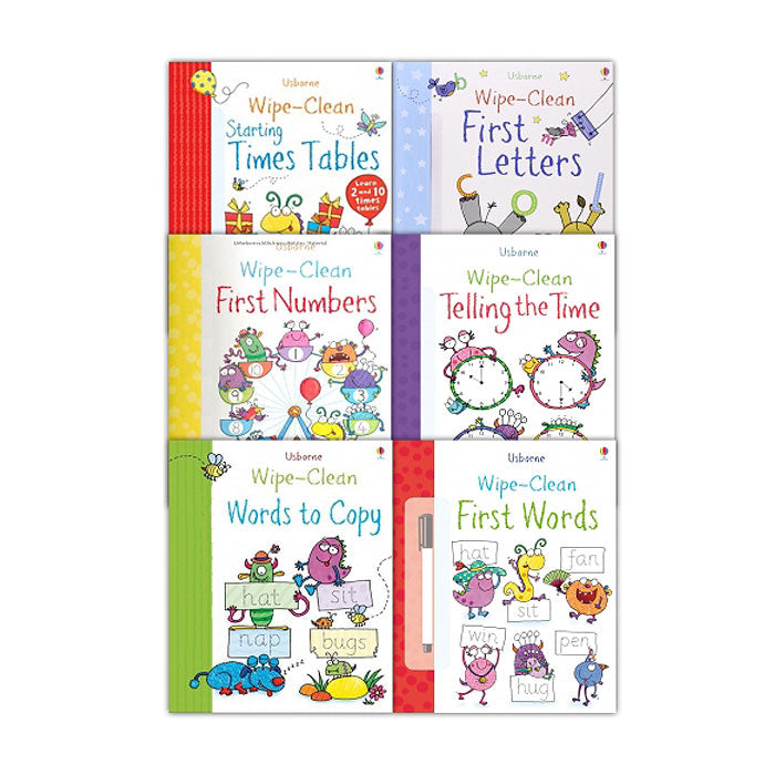 Usborne Wipe Clean Learn To Write 6 book - mamaishop