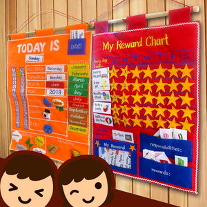 好孩子獎勵計劃:My Reward Chart/Today Is...Chart - mamaishop