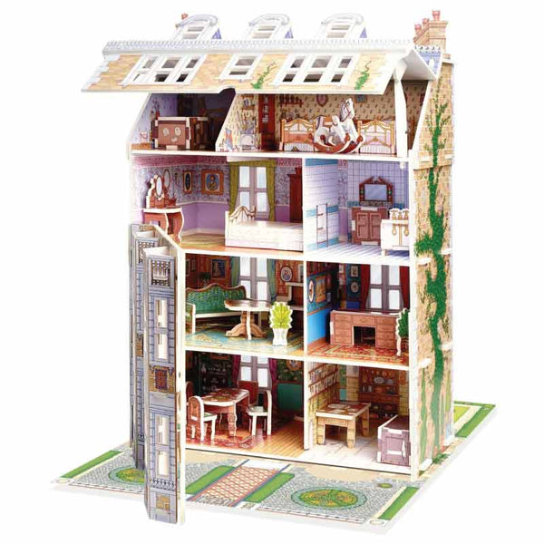 Slot Together Victorian Doll's House - mamaishop
