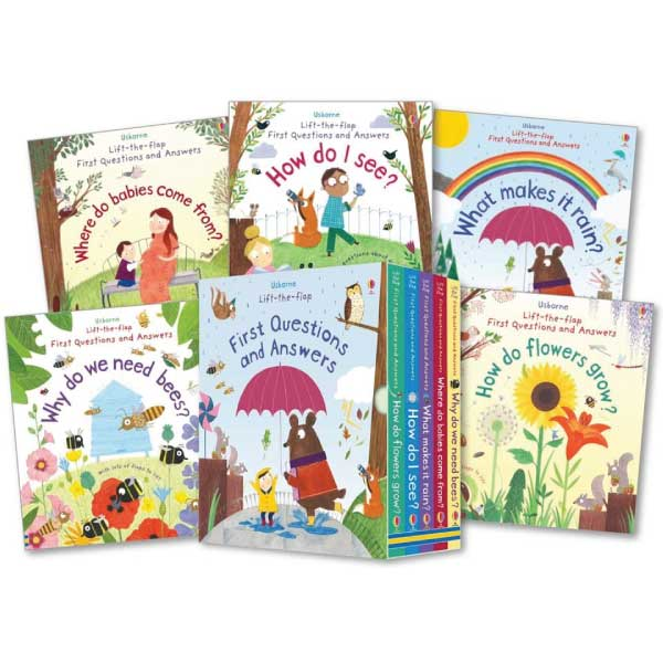 Usborne Lift-the-Flap First Questions and Answers (5 books) - mamaishop