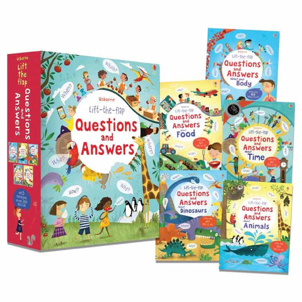 Usborne Lift-the-flap Questions and Answers Slipcase (5 books) - mamaishop