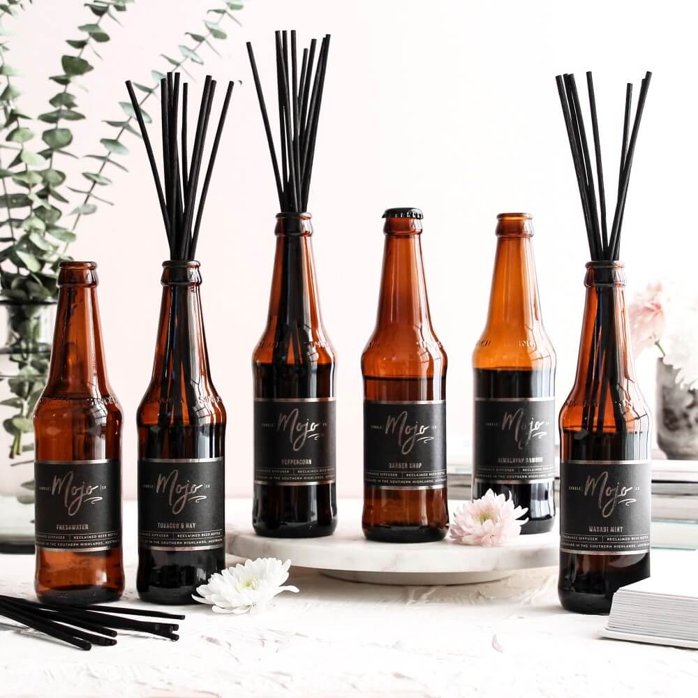 HIMALAYAN BAMBOO - Reclaimed Beer Bottle Diffuser