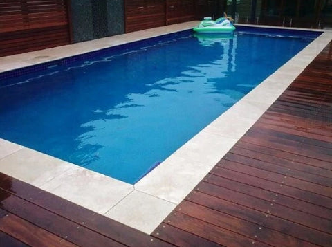 Travertine Tumbled Pool Coping