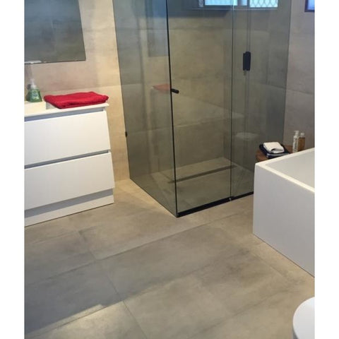 Porcelain Cement Look Tile Light Grey