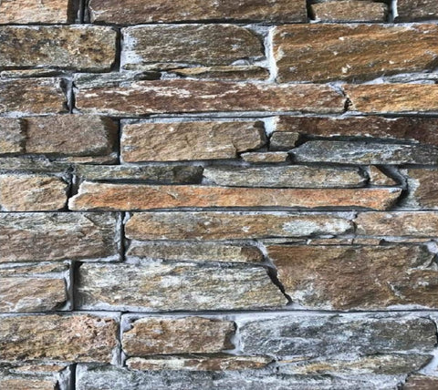 Sandstone Split Face Natural Stone Wall Cladding / Cement Backing