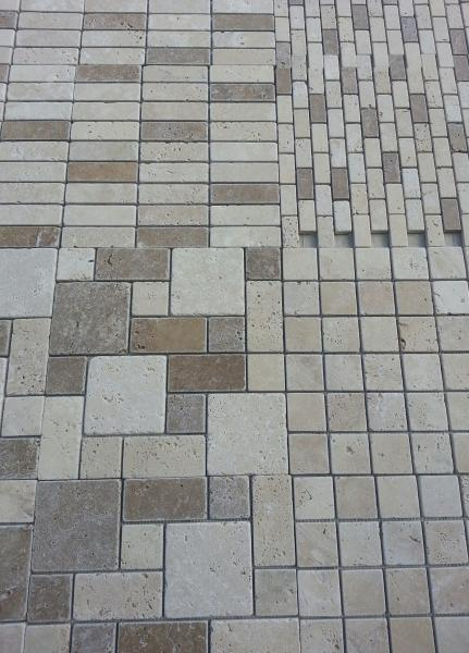 TRAVERTINE GLASS MOSAIC SELECTION TUMBLED