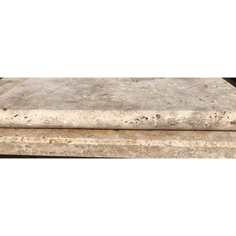 Travertine Starck Tumbled Bullnose PoolCoping  /steps 610x406x30 Each
