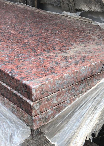 granite african red steps