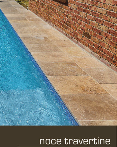 travertine noche pool coping