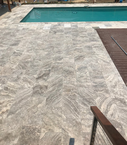 silver renzo travertine pavers Tile Auctions Customer