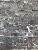 Nero Marquina natural  splitface stone interlock on sheets per each
