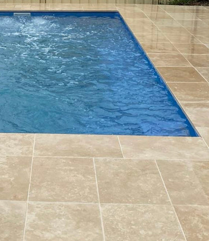 Travertine  Ivory  Tumbled Premium  Pavers