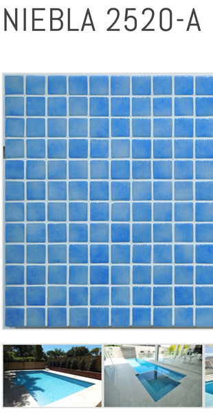 Niebla Glass Swimming Pool Mosaics 25mm