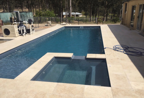 pool coping limestone