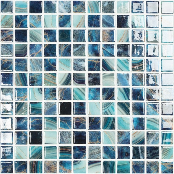 Nature glass mosaics 25x25 on sheets.