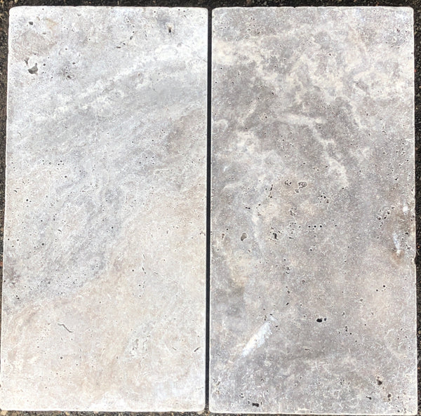 silver travertine tumbled 600x300x30