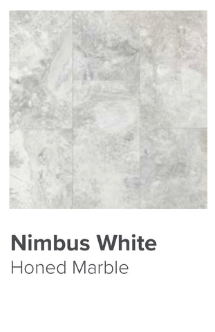 nimbus white honed marble