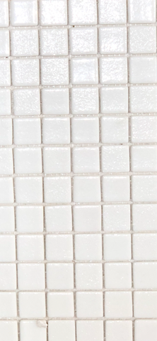 Spanish white glass mosaics antislip