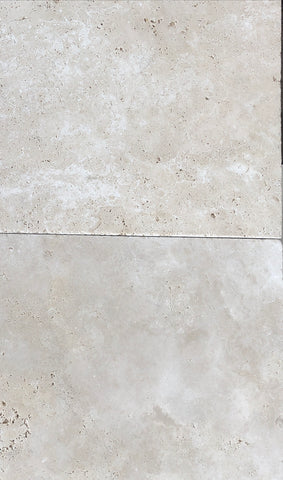 Travertine Ivory Premium Tumbled Pavers 600x600x30 per m2