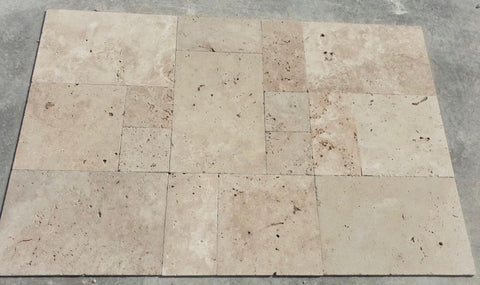 Travertine  Tumbled Antique French pattern  tikes
