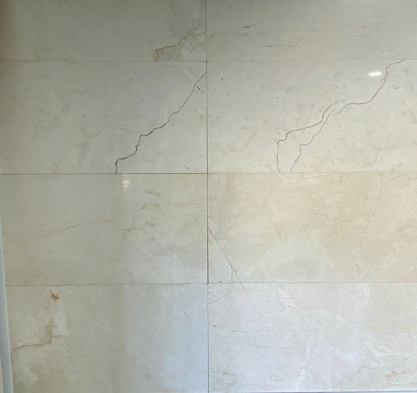 marble bianco rosso polished 610x305x12