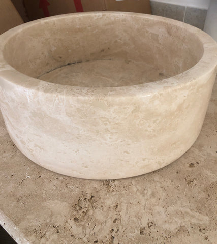 Travertine basins for sale - Per Each