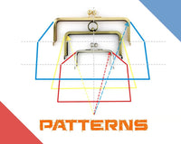 make your own metal frame clutch pattern, pattern creating, pattern drafting, clutch pattern, purse pattern, sewing pattern
